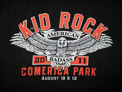 KID ROCK COMERICA PARK CONCERT t SHIRT Ain't No Party Like Detroit Made In MED