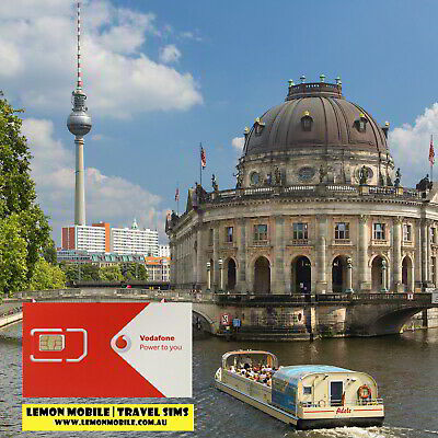 Vodafone Europe + UK 30-in-1 Travel SIM Card | 28 days 4-8GB data + calls/txts