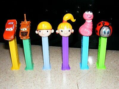 PEZ dispensers Bob the Builder Cars Bugz  6 total