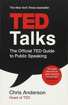 TED Talks The official TED guide to public speaking Book By Chris Anderson NEW