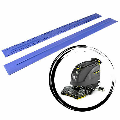 Squeegee rubbers - natural blue rubbers set for KARCHER B40 / B60 / BD/BR 50/50