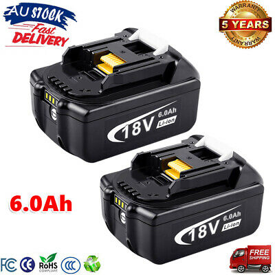 2x18V 5.0AH Battery For Makita BL1850 BL1840 BL1830 BL1860 Lithium Ion Cordless
