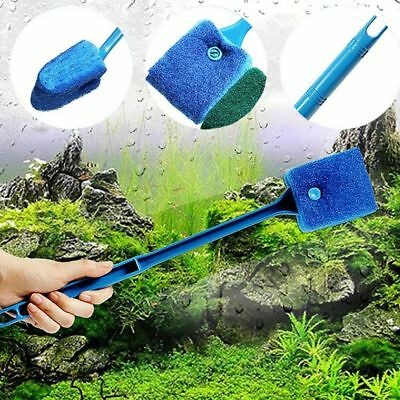 1pcs Aquarium Fish Tank Cleaner Window Glass Scraper Double-sided Cleaning Brush