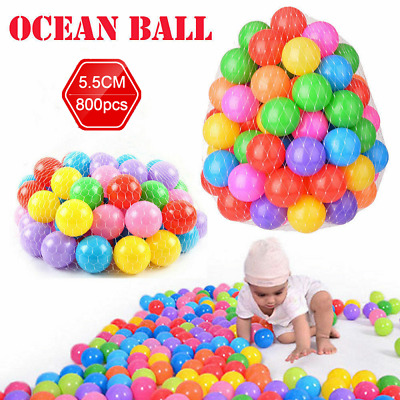 1600x Ball Pit Balls Play Kids Plastic Baby Ocean Soft Toy Colourful Playpen Fun