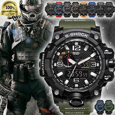 2019 SMAEL Waterproof Military Watches Shock Men's Analog Quartz Digital Watch