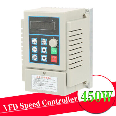 AC220V Variable Frequency Drive Single-Phrase VFD Speed Controller Inverter UK