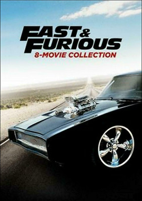 Fast and Furious: 8-Movie Collection (DVD, 2017, 9-Disc Set) New Free Ship USA