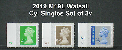 2019 - M19L - 20p, £1.00 & 100g Special Delivery - Counter Sheet CYL Singles 3v