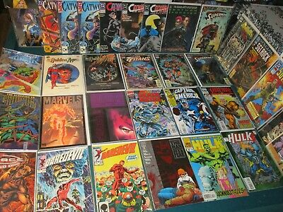 31 Wholesale Comic Book Lot All DC & Marvel Catwoman #1 Hulk Daredevil Punisher