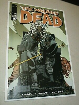 Image THE WALKING DEAD #108 Key 1st KING EZEKIEL & SHIVA Tiger NM High Grade