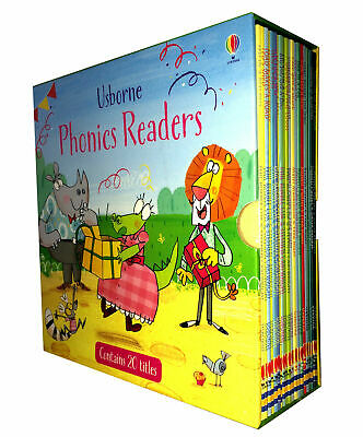 Usborne Phonics Readers 20 Books Collection Box Set Gift Pack Childrens Reading