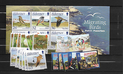 2004 MNH Alderney year collection, postfris