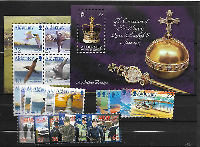 2003 MNH Alderney year collection, postfris