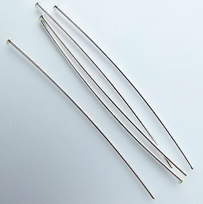 """500 Head pins Silver plated thin soft 0.6 mm wire 50mm/2"""" top quality findings"""
