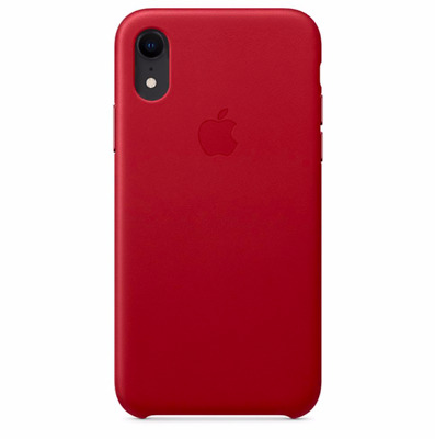 """Red iPhone XR 6.1"""" Apple Genuine Original Protective Leather Cover Case"""