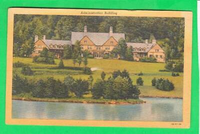 Postcard ~ Lake in administration building Allegany State Park ~ Vintage 7125