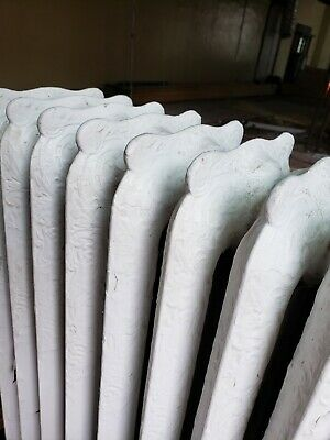 """Beautifully Detailed Cast Iron Radiator, 38""""H x 31""""L x 9""""W, 4 Tubes, 12 Sections"""
