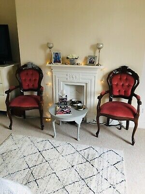 Louis French Style Boudoir Accent Chair With Arms Armchair Dining or Bedroom