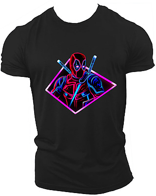 Deadpool X force Avengers Endgame T-Shirt Cable Xmen Dark Phoenix Unisex Neon17