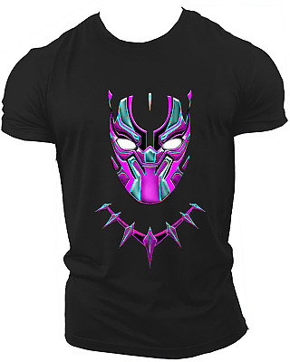 Black Panther Avengers Infinity War End Game Marvel Endgame T-Shirt Neon18