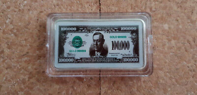 United States Usa Coloured Bar Amerika Baartje 100.000 Dollars Dollar