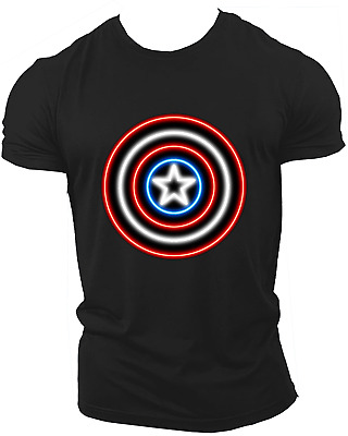 Captain America Avengers Infinity War End Game Endgame T-Shirt Adult Neon26