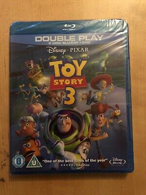 Toy Story 3 (Blu-ray and DVD Combo, 2010, 3-Disc Set) New And Sealed