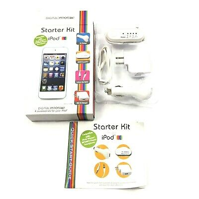 Digital Gadgets iPod Starter Kit 4 Accessories Charging Listening Travel AM FM
