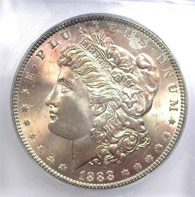 1888 Morgan Silver Dollar  Icg Ms65 Valued At $175!