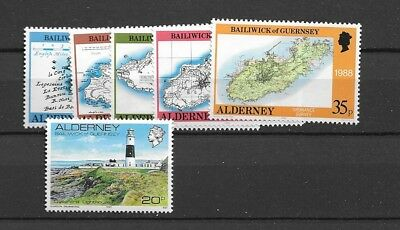 1989 MNH Alderney year collection, postfris