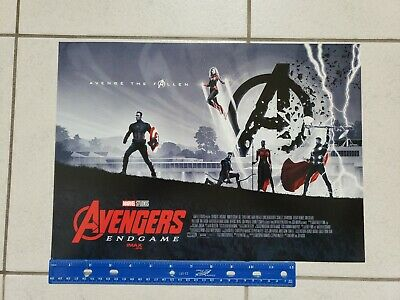 "Avengers Endgame Exclusive Poster AMC IMAX Weed 2 of 2 11"" x 15.5"""