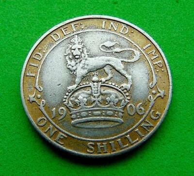 A  Quality  Edward  Vii  * 1906 *  Full  Silver  Shilling  1/-.. Lucido_8  Coins
