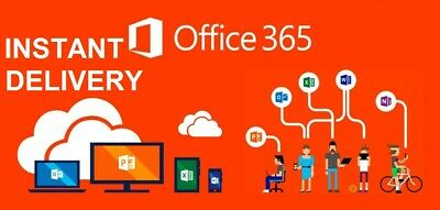 1 Sec Instant Delivery - Office 365 Lifetime - 5 Users Windows, Mac, and Mobile