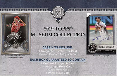 2019 Topps Museum Collection Baseball Live Pick Your Player (Pyp) 1 Box Break