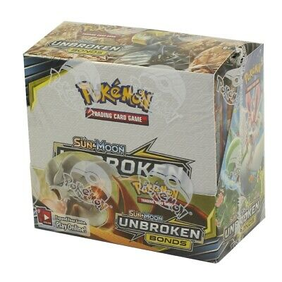 Pokemon Cards - Sun & Moon Unbroken Bonds - Booster Box (36 Packs) - New Sealed