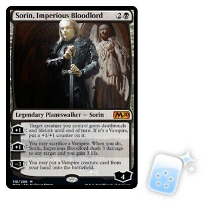 SORIN, IMPERIOUS BLOODLORD Core Set 2020 M20 Planeswalker Magic MTG MINT CARD