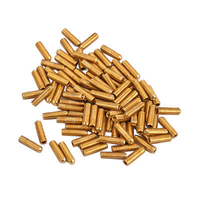 100pcs Metal Electric Bass Guitar Bridge Saddles Diameter 3mm Golden