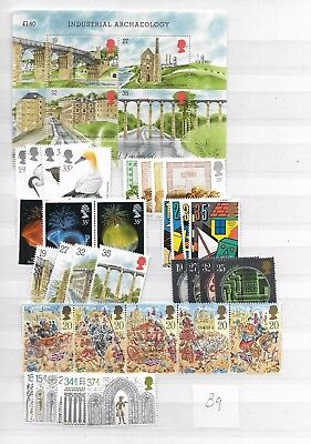 1989 MNH Great Britain, commemorative year collection