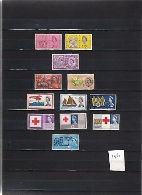 1963 MNH Great Britain, commemorative year collection