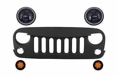 Front Grille Headlights Turn Signal Light for Jeep Wrangler Rubicon JK 2007-2017