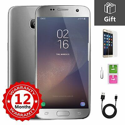 SAMSUNG GALAXY S7 32GB Unlocked 4G Android Mobile Phone Smartphone Silver