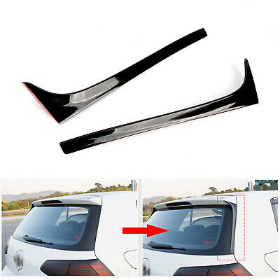 2x Black Rear Window Spoiler Side Wing For VW Golf 7 7.5 MK7 MK7.5 2014-2018