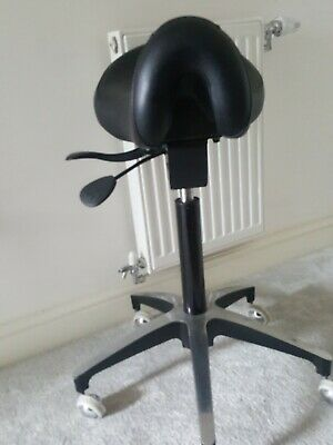 Dental Dentist's Mobile Office Chair Doctor's Stools Saddle Style Leather UK