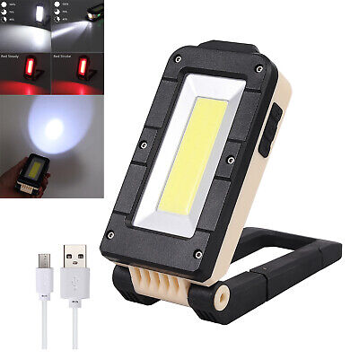 LED COB Work Light USB Rechargeable Camping Worklight Lamp 8 Lighting Modes 10W