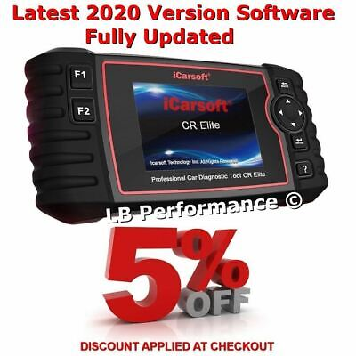 Latest OBD2 iCarsoft CR Elite Professional Diagnostic Tool Multi Brand Vehicles