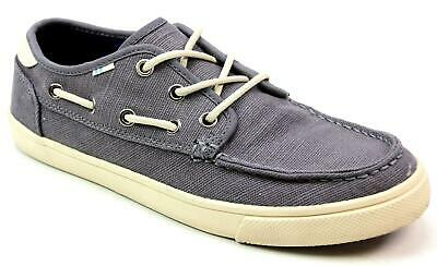 Mens Toms Dorado Grey Canvas Lightweight Boat Deck Flat Summer Shoes Size Uk 7