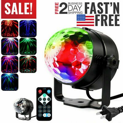 Disco Party Lights Stage Light Strobe LED DJ Ball Indoor Сolored Dance Bulb Lam