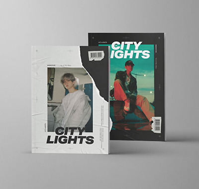 "K-POP EXO BAEKHYUN 1st Mini Album "" City Lights "" - 2 Photobook + 2 CD / 2 SET"