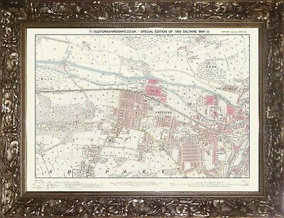Reproduction Old Saltaire Special Edition map - 1893 - Old Yorkshire 201 series