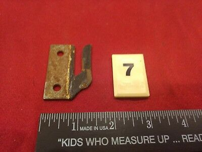 1 Vintage Steel Casement Window Cabinet Door Latch Keeper Part - B7